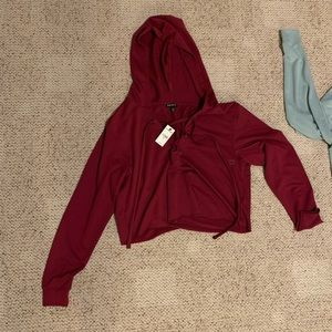 Express Crop Workout Hoodie XS